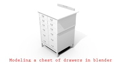 Blender tutorial: Modeling a chest of drawers