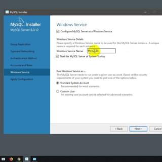 install MySql 8.0.12.0