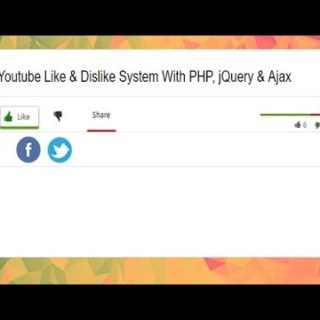 Youtube Style Like Dislike Rating System Using, PHP, Ajax, Jquery, Youtube Like Dislike Bar