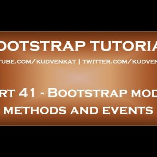 Bootstrap modal methods and events