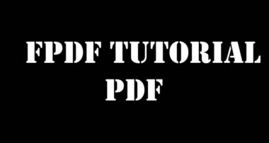 Example 8  –  generate report pdf  with fpdf using php