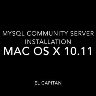 MySQL Community Server Installation on El Capitan