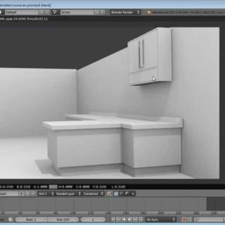 Modelado de la una cocina en Blender 3D 2.6. Videotutorial de CG Studios Blender