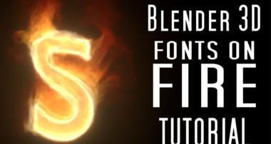Blender 3d Tutorial: Creating Sleek, Stylized Flames on Text