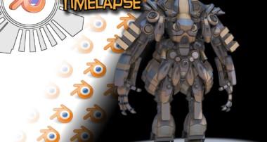 Blender 3d: Mech Kitbash Timelapse