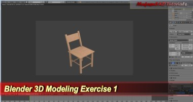 Blender 3D Modeling Tutorial | Simple Chair | Practice Exercise 1