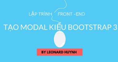Cách tạo modal kiểu Bootstrap 3 với CSS, HTML, javascript