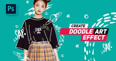 How to Create Doodle Portrait  Effect in Photoshop – #Photoshop Tutorials