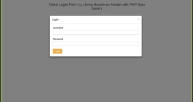 Make Login Form by Using Bootstrap Modal with PHP Ajax Jquery