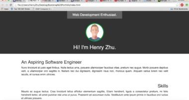 HTML / CSS Speed Coding – Bootstrap Portfolio