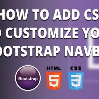 Bootstrap navbar – Customize your Bootstrap navbar with CSS