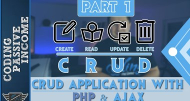 PHP Ajax CRUD Application Tutorial – MySQL & Bootstrap & jQuery DataTables  [Part 1]