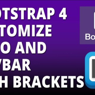 Bootstrap 4 – Logo and Navbar Customization with Bootstrap 4 and Brackets text Editor