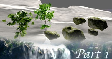 Create Gorgeous Waterfalls – Blender Tutorial – 01 : Terrain & Assets