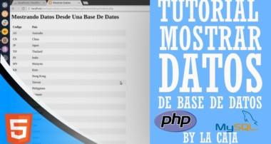 Tutorial Mostrar Datos De Una Base De Datos Mysql Con PHP