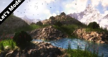 Modeling a landscape in Blender