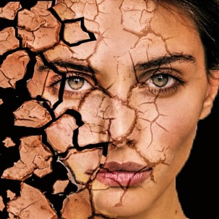 cracked face disintegration  | photoshop tutorial cs6/cc