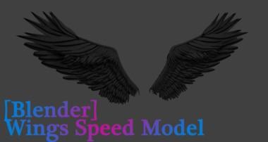 [Blender] 3D Wings Speed Model