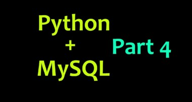 MySQL Database with Python Tutorial Part 4 – Inserting Variables as Data
