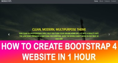 Bootstrap 4 website designing  2018 (with code)