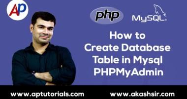 How to Create Database Table in Mysql PHPMyAdmin | PHP Mysql Tutorial in Hindi