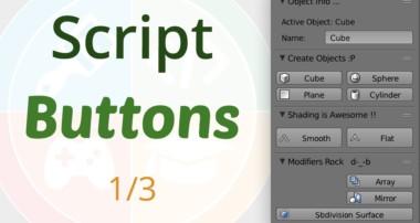 Blender 3D: Script UI Buttons (1/3)
