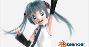 "Miku-san: ""Miku Miku Mii"" (in Blender 3D)"