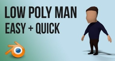 low poly man | Blender | tutorial | beginner