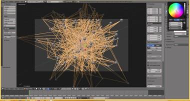 Blender 3D create a network of nodes