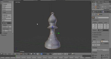 Blender Modelling Tutorial Making A Bishop Chess Piece Using the Boolean Modifier