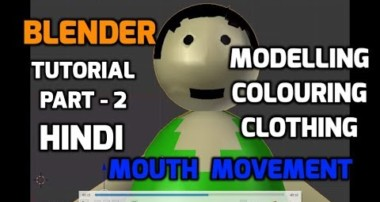 [Hindi] Blender Amination Character Tutorial-2 | Colouring,Clothing,Mouth Movement | Blender guru
