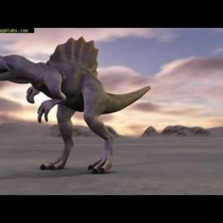Spinosaurus 3D Animation Blender 2.5