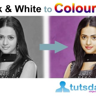 Converting Black and White Photo to Colour Photo – Photoshop Tutorial by tutsdaddy.com