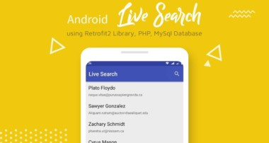 Android Live Search (Retrofit2, PHP, MySQL) – | RecyclerView, SearchView |