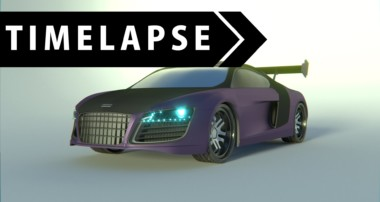 Audi R8 Timelapse – BLENDER (Modeling and Texturing Car)