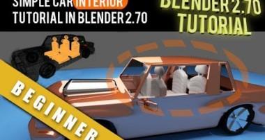 How To Simple Car Interior Modeling Tutorial In Blender 2.70
