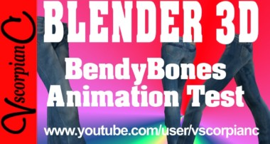 Blender 3d Animation (Test)  BendyBones Rig & Skinning by VscorpianC