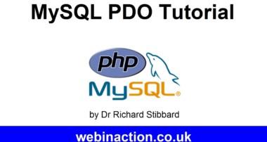 MySQL PDO Tutorial Lesson 2 – Error catching