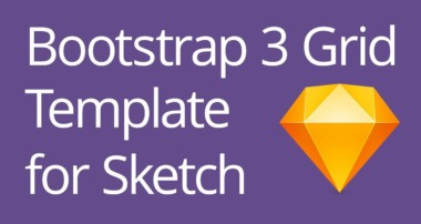 Bootstrap 3 Grid Template for Sketch Tutorial