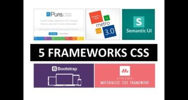 5 Frameworks CSS fáciles de implementar (Bootstrap, PureCSS,SemanticUI, MetroUI, MaterializeCSS)