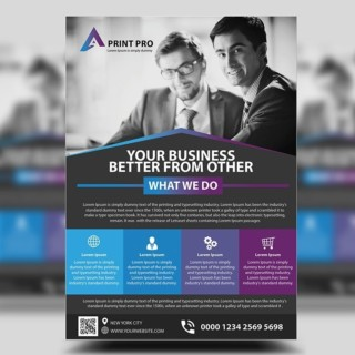 Modern Corporate Flyer Design | Photoshop Tutorials