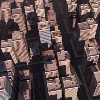 City created with Blender