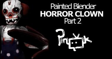 Tutorial Blender guru – LowPoly Horror Clown ( IT ) Part 2