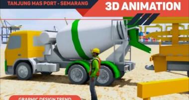 Blender 3D Animation – Terminal Peti Kemas Semarang | Client PT. Wijaya Karya (persero) Tbk.