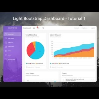 How to create a Responsive Admin Template using Light Bootstrap Dashboard – 1/3