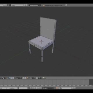 Blender basic chair Tutorial for beginners
