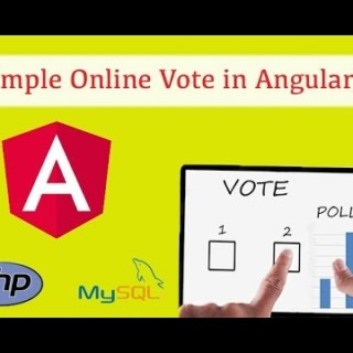 Simple Online Voting system using AngularJS, PHP and MySQL