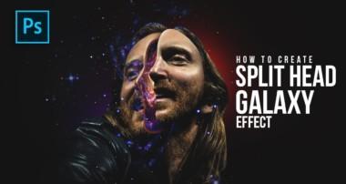 How to Create Split Head Galaxy Manipulation in Photoshop – #Photoshop Tutorials