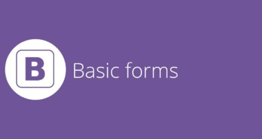 Bootstrap tutorial 12 – Basic forms