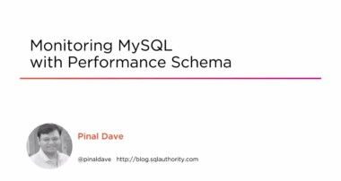 Course Preview: Monitoring MySQL with Performance Schema